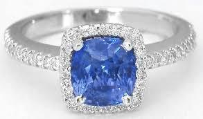 light blue sapphire engagement rings quality cushion cut ceylon sapphire in beautiful halo