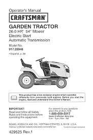 craftsman lawn mower 28948 user guide manualsonline com