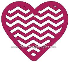 the non crafty crafter cricut creating a chevron letter using