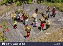sacrificial ceremony pura pasaran agung at the volcano mount