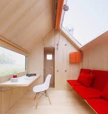 fold down desk living room modern with roller blind wood paneling
