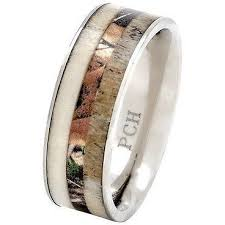 titanium mens wedding band deer antler ring with camo inlay 8mm titanium mens wedding band