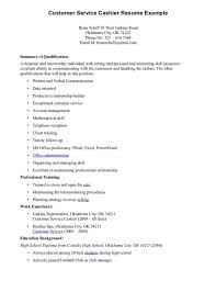 Resume For Fast Food Example Of Cashier Resume Resume For Fast Food Cashier Samples
