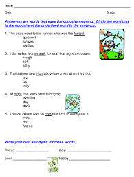 phonics workbook u003e synonyms and antonyms sample
