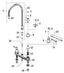 two handle kitchen faucet repair order replacement parts for american standard 4771 222 4771 322
