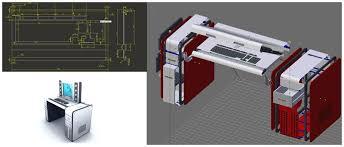 bureau ordinateur design gain d espace et de fonctionnalités le bureau ordinateur