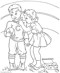 child valentine coloring book pages 009