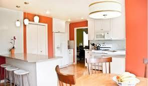 appliances drum shape light pendant with orange kitchen paint