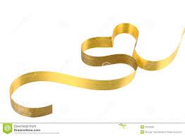 gold ribbon gold ribbon heart royalty free stock photo image 22552995
