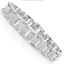 diamond bracelet silver images Diamond bracelet mens sterling silver bracelets mens diamond jpg