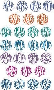 Initial Monogram Fonts Standard Fonts Dancing Bay Embroidery