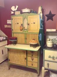hoosier style kitchen cabinet cream and green oak hoosier cabinet vintage pinterest