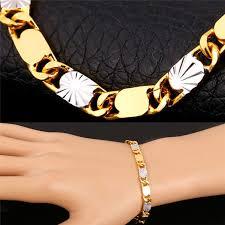 bracelet chain link styles images 2018 new two tone chain bracelet 18k gold platinum plated trendy jpg
