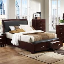 Woodbridge Home Designs Furniture Amazon Com Homelegance Lyric Platform Bed W Storage Footboard In