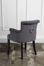 sedie per sala da pranzo positano velluto nero sedia per la sala da pranzo con braccioli