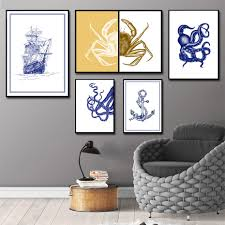Crab Decorations For Home Online Get Cheap Blue Crab Paintings Aliexpress Com Alibaba Group
