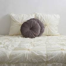 Duvet With Quilt Cream Ruched Bed Cover Set Buy Bedspreads Online Quilt With Shams