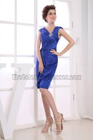 knee length royal blue cocktail dress party dresses