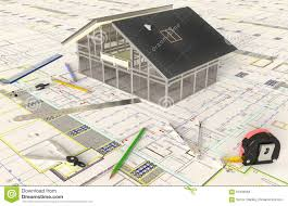 house architecture drawing house architectural drawing and layout stock photo image 67906566