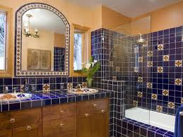 Decorative Tiles For Kitchen Backsplash by Tile Backsplash Enhances This Bathroom S Mexican Flair The Vivid