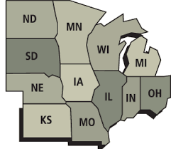 us map middle states mid west usa agriculture and careers in mid west usa
