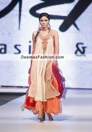 party wear dress multiple panel frock sharara latest designer