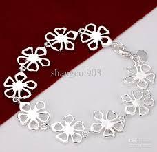 flower silver bracelet images 2018 fashion silver bracelet 925 silver charms flower design jpg