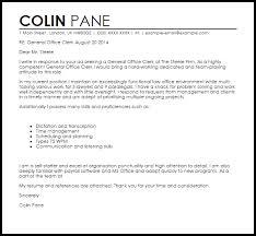 resume cover letter exle general general office clerk cover letter sle livecareer