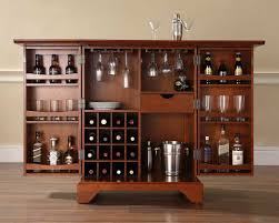 Cool Wood Furniture Ideas Furniture Cool Wooden Locking Liquor Cabinet With Wine Storage
