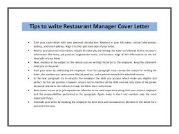 Restaurant General Manager Job Description Resume by Application Letter For A Job In A Restaurant