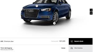 audi a3 configurator 2015 audi a3 configurator is up and running autoblog