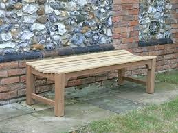backless slatted bench
