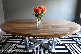 custom round dining tables unbelievable round strip wood dining table on stainless steel base