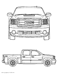 gmc pickup truck coloring pages
