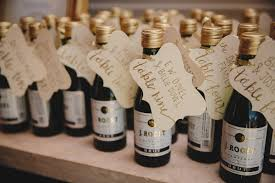 wine bottle favors wine bottle favors doubling as cards the knot regarding