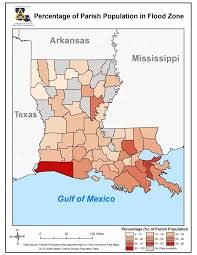Map Of Louisiana by Repetitive Flood Portal