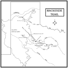 Lubbock Texas Map Caprock Chronicles Significant Mackenzie Trail Is Major Military