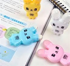 accessoire de bureau rigolo rabbit correction and eraser j adore