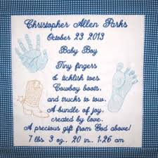 baby boy poems custom birth announcement personalized baby embroidery design and