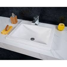 White Drop In Bathroom Sink Faucet Com 0643 001 020 In White By American Standard