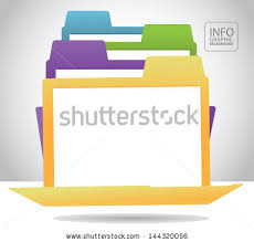 file folder infographic background template layout stock vector