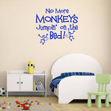 online get cheap wallpaper for baby boy room aliexpress com jumping on the bed monkey wall stickers for kids room boy bedroom home decoration baby wall
