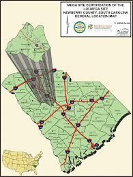 I 95 Map I 26 Mega Site Newberry County Sc Economic Development