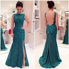 emerald teal bridesmaid dresses 2017 green mermaid long high neck