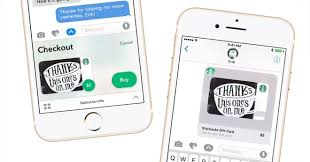 send gift cards starbucks offers 5 to customers sending gifts via imessage app