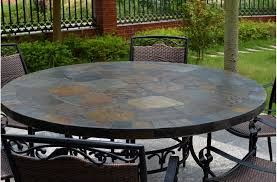 patio dinning table 63 round slate outdoor patio dining table stone oceane