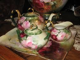 roses tea set magnificent antique limoges tea set painted roses