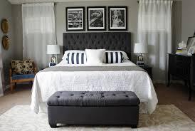 Grey Tufted Headboard Grey Upholstered King Headboard Fabric Linen Homevance