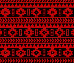 uga red and black aztec tribal print fabric seachelle spoonflower