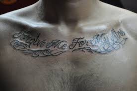 pl u201cforgive me for my sins u201d chest lettering paul loh